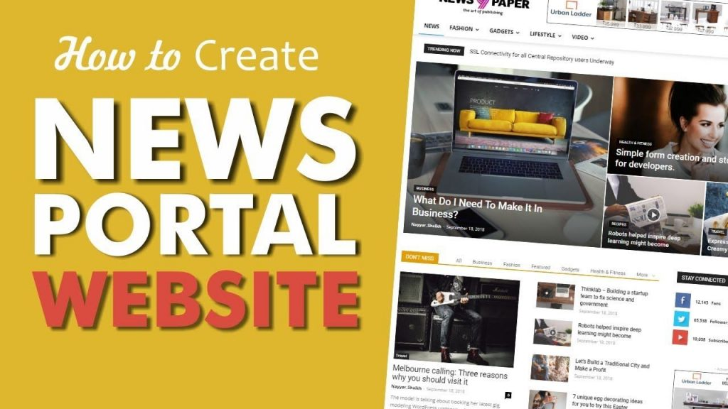 how to create new portal blog
