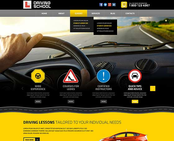 driving-school-website-design