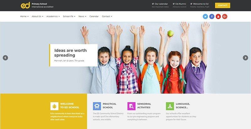 School/ College/ Education Institute Website Design @ Rs. 4900 - Low Cost School & College Website Designing Company