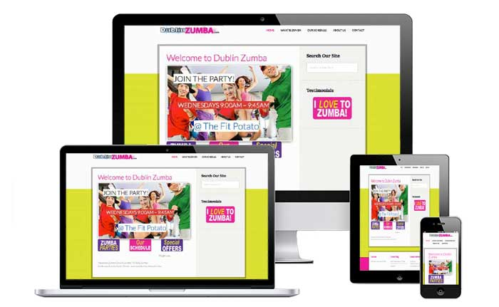 zumba-classes-website-design